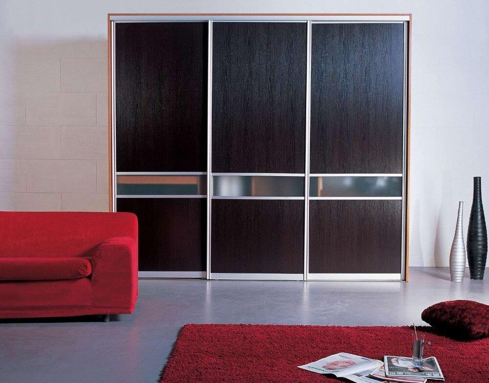 Wood Veneer Closet With Sliding Door
