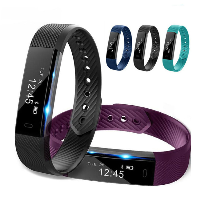 New ID115 Smart Bracelet Fitness Tracker Step Counter Activity Monitor Band  Clock Vibration Wristband for xiaomi pk id107  p40