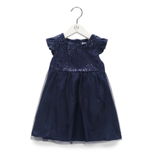 BBWOWLIN Newborn Baby Clothes Girls Dress Clothing Blue Seqined Princess Dresses for 0 12 Months Kids