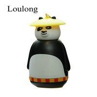 Kung Fu Panda Paul PO Kungfu Trực Tuyến Panda Flower Double-boong Thời Trang Trẻ Em Sinh Viên Đáo Cartoon Mugs Chân Không Đi Cup