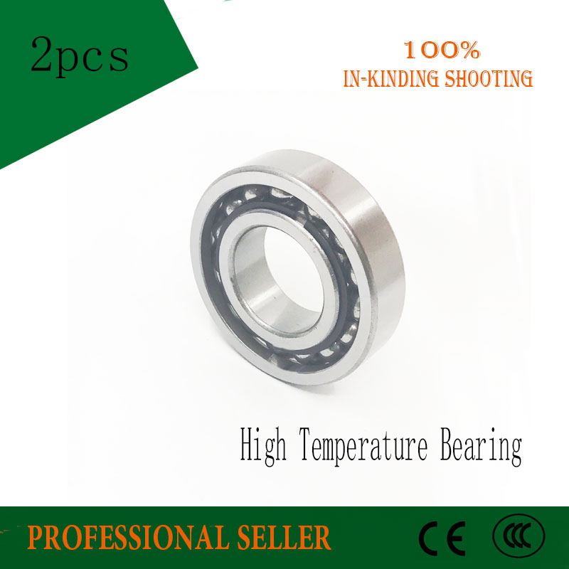 6203 High Temperature Bearing (2 Pcs) 500 Degrees Celsius 17x40x12mm Full Ball Bearing TB6203 image