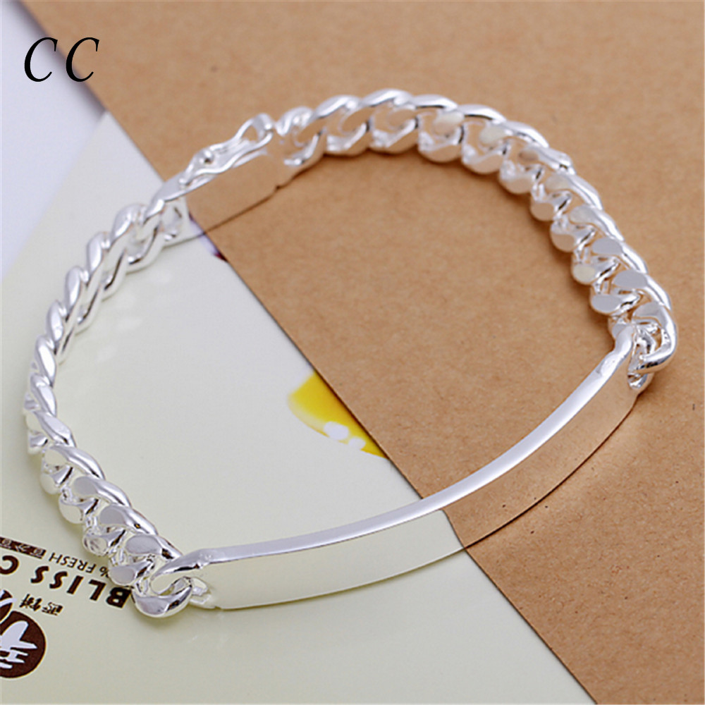 Silver Plated 8mm Wide Figaro Chain Bracelet For Men Cool Punk Homme  Fashion Jewelry Gift For Friend Wholesale Ccne0673