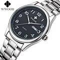 Brand WWOOR relogio masculino quartz-watch men's quartz watch watches women business men calendar vintage retro