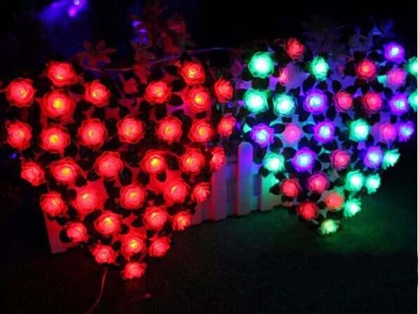 Aliexpress.com : Buy 70p Rose LED Fairy Lights Christmas Window ...