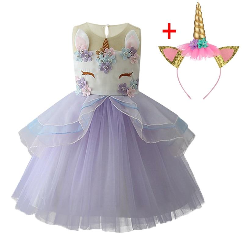 HTB1Zyg0XN2rK1RkSnhJq6ykdpXai Unicorn Dresses For Elsa Costume Carnival Christmas Kids Dresses For Girls Birthday Princess Dress Children Party Dress fantasia