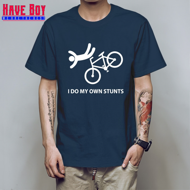 Casual Printed Tee I Do My Own Stunts Quality Print New Autumn Style Cotton Online T Shirts For Men HB31