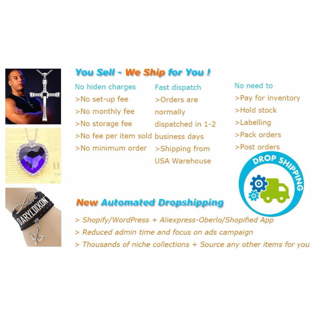 Drop shipping business for shopify wordpress free oversea for Drop shipping jewelry business