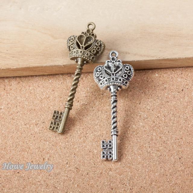 9pcs vintage charms 3d crown key pendant fit bracelets necklace diy 9pcs vintage charms 3d crown key pendant fit bracelets necklace diy metal jewelry makingd001 aloadofball Image collections