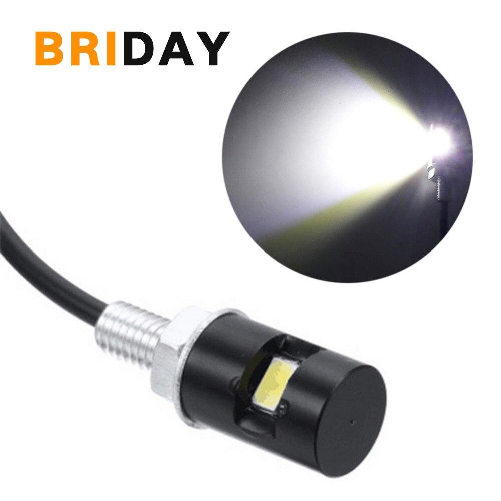 2PCS New Universal Wired Motorcycle LED License Plate Light Bulb Motocross Car LED 12V Front Lamp  Running Light Turn Signal