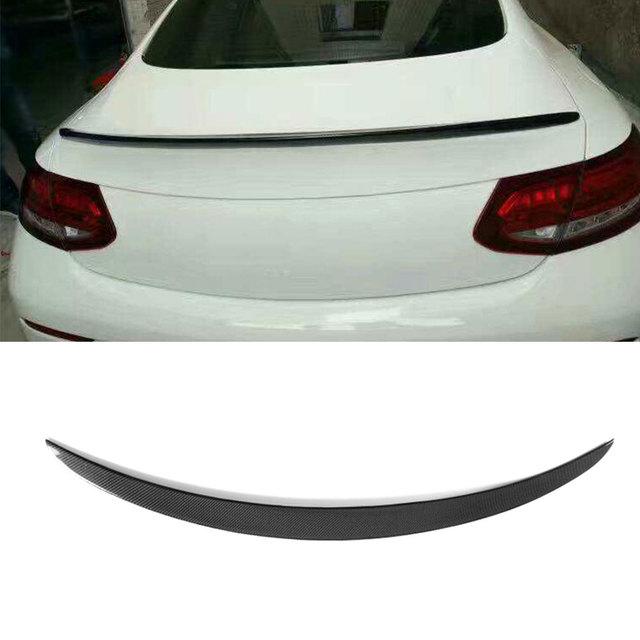 Carbon Fiber Rear Wing Spoiler for Mecerdes Benz W205 C205 C180 C200 C250 C300 C350 C63 AMG Coupe 2 Door 2015-2017