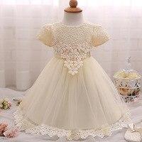 新しい2017チュール白い赤ちゃん花嫁介添人フラワーガールのウェディングドレスふわふわボールガウン誕生日イブニングウエディング布チュチュパーティードレ