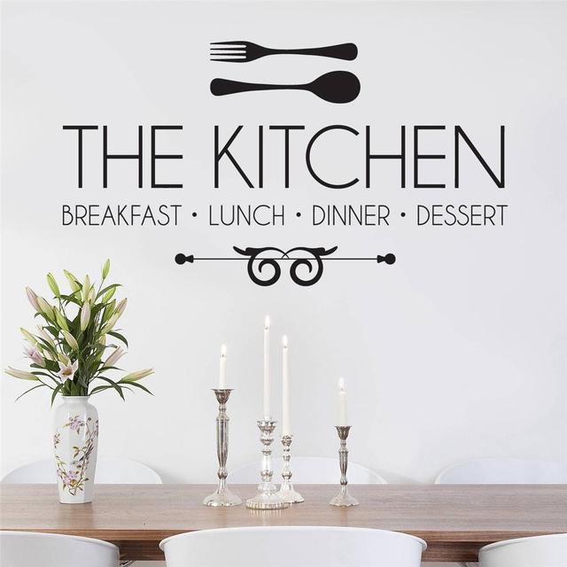 D480 THE KITCHEN, Breakfast, Lunch, Dinner Decal WALL STICKER Quote Art Wall  Stickers Part 44