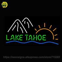 Neon Sign Lake Tahoe Mowntain Hand Stop Home Delivery Free Full Moon Bar Grill Coors Light