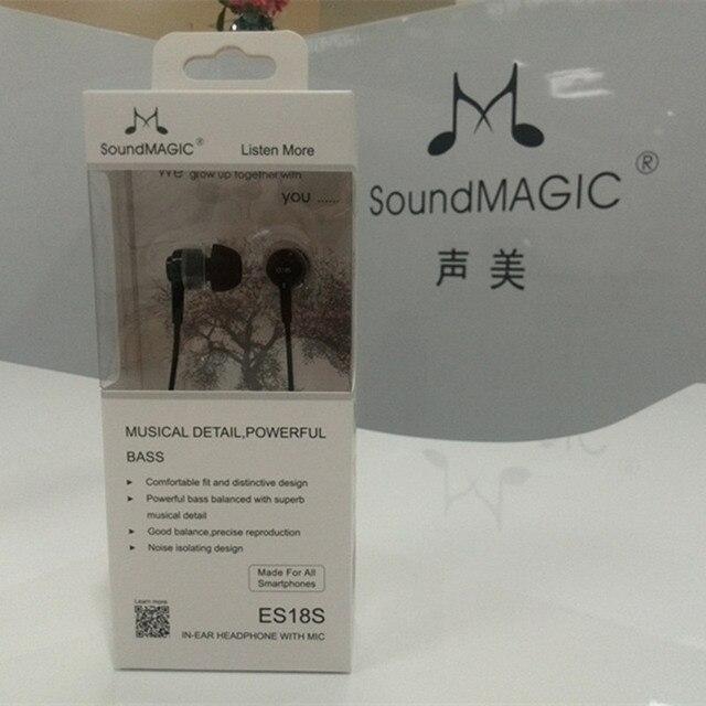 SoundMAGIC ES18S com microfone graves Fortes fones de ouvido fone de ouvido fone de ouvido com controle remoto de som Compatível com todos os Smartphones