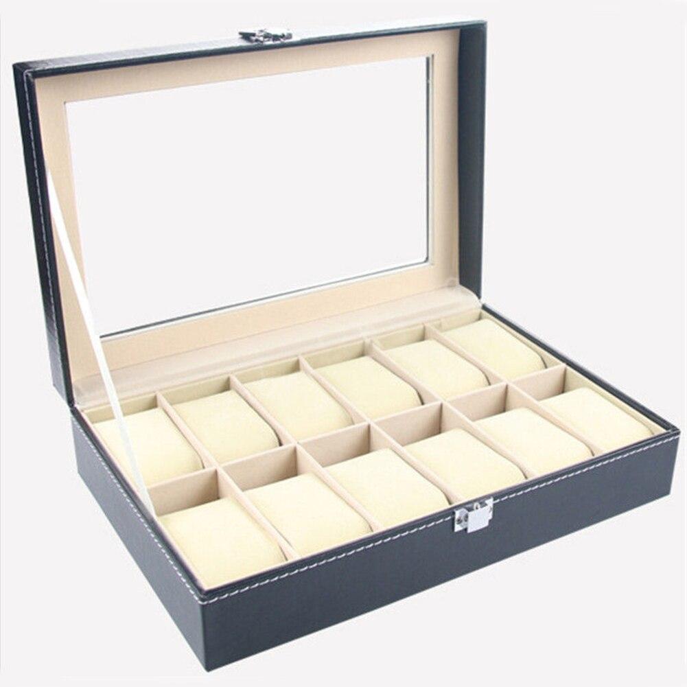 12 slots relógio de pulso expositor caixa