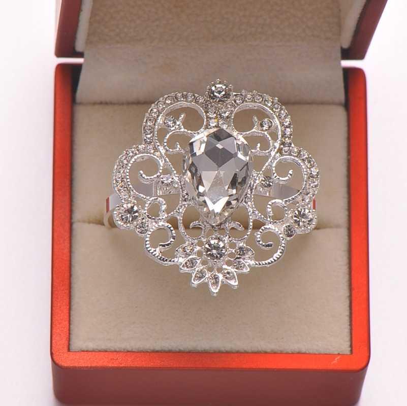 (L0343-ring) Free Shipping Wholesale 50pcs lot Fashion rhinestone napkin  rings for 07d788698ed2