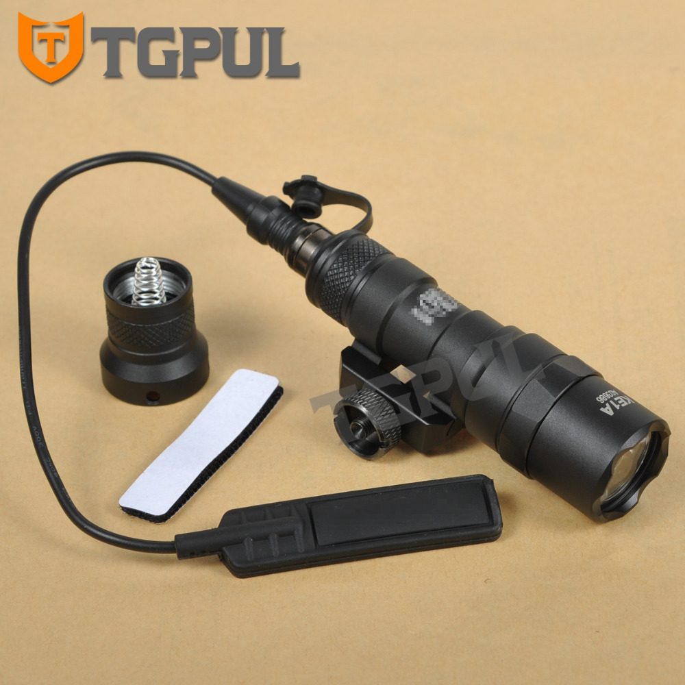 TGPUL Tactical M300B Weapon Light Rifle MINI SCOUT LIGHT LED Flashlight Constant / Momentary Output for Hunting tactical flashlight with tail switch m300b mini scout light new version light black de