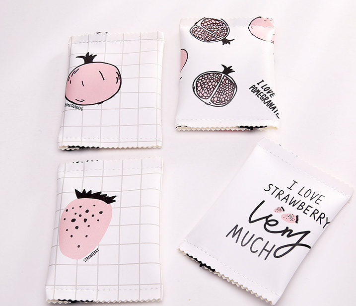 Super Sweet 4 Snacks Fruits - 12CM approx. Hand Coin BAG , PU Coin Purse Wallet Pouch Case BAG ; Gift Pocket BAG Handbag