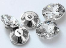 8size Crystal Sofa Soft Button Rhinestones gem Flower pull buttons 50pcs/lot Package Buckle Decorative Glass Wholesale