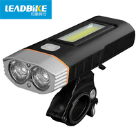 LEADBIKE Usb Rechargeable MTB Bike Light Front Handlebar High Power Cycling Led Flashlight Headlight Bicycle Accessories