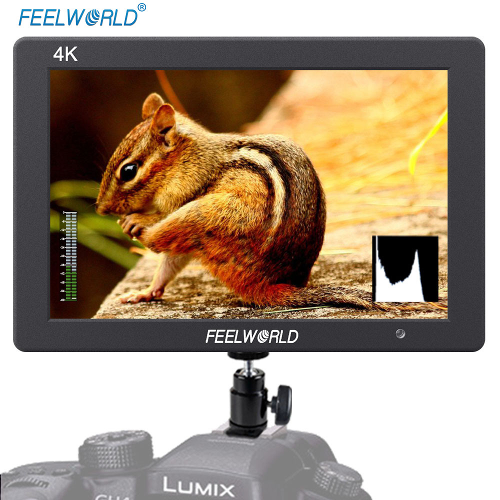 Feelworld T7 7 Inch IPS 4K HDMI Monitor 1920x1200 Solid Aluminum Housing Camera Field Monitor with Peaking Focus False Color