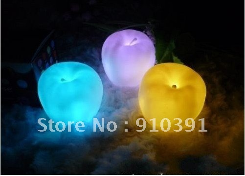 Free Ship/EMS,6cm changeable colors led apple lamp,apple light,table desk lamp for holiday party Festival decoration.