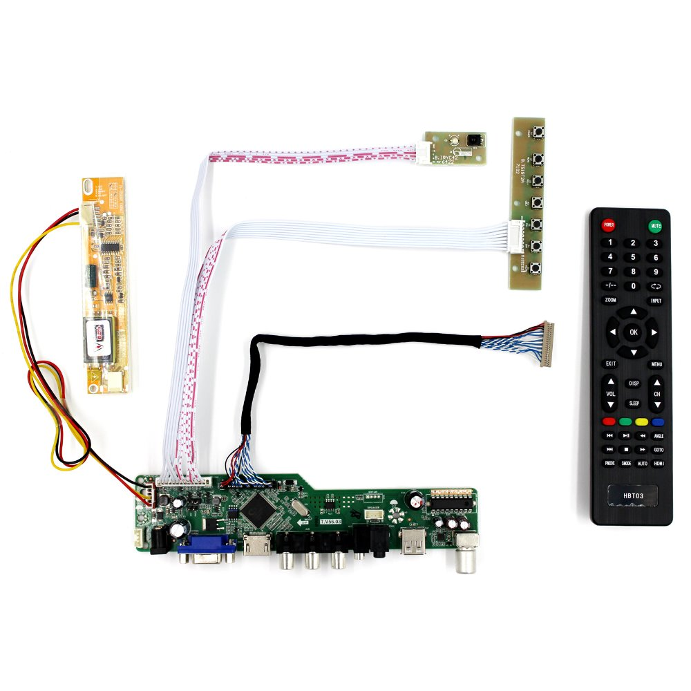 TV HDMI VGA AV USB Audio LCD Controller Board For 14 15 LTN141P1 LTN150P1 1400x1050 LCD Screen vga hdmi lcd controller board for lp156whu tpb1 lp156whu tpa1 lp156whu tpbh lp156whu tpd1 15 6 inch edp 30 pins 1 lane 1366x768