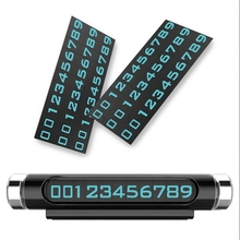 hot deal buy luminous car parking phone number board universal stand move the number call temporary parking number plate holder panel bracket