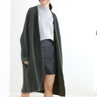 In The Women S Long Coat Color Mink Cashmere Shawl Women Sweater Loose All Match Big