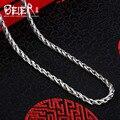 Beier nueva tienda 100% 925 plata esterlina collares colgantes de moda collar de cadenas de joyería fina para las mujeres/hombres br925xl035