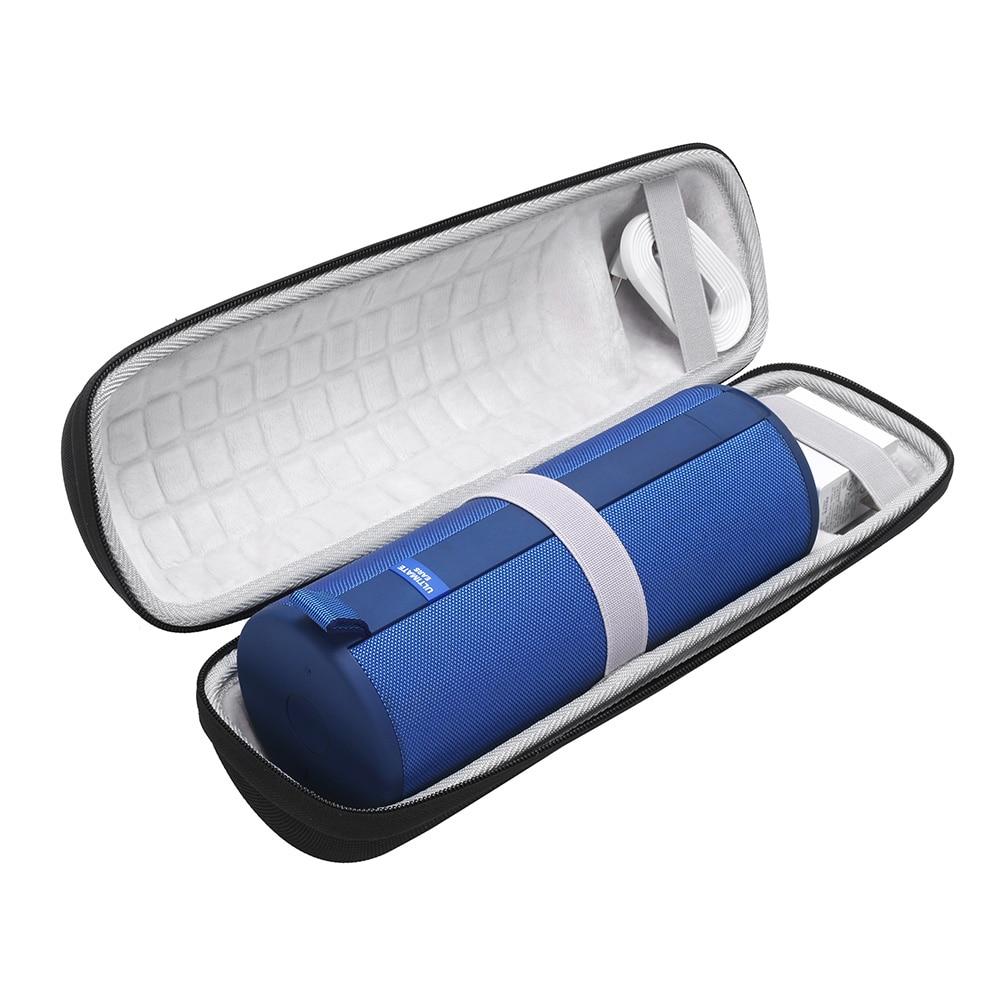 ZEJAT Portable Speaker Case For Logitech UE MEGABOOM 3 Protective Hard Case With Shoulder Strap Outdoor Carrying Case