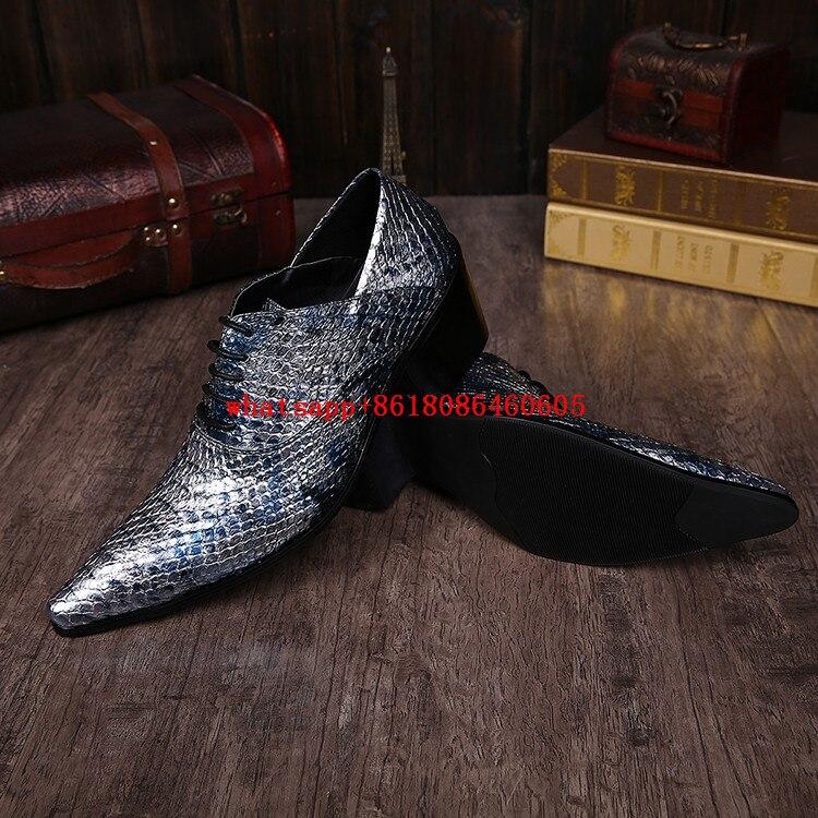 De Do Pontas Ouro Sapatos as Vestido As Couro Casamento Até Italiano Dedo Luxo Prata Picture Glitter Alto Azul Salto Homens Rendas Oxford Dos Pé Picture d8x0FEn