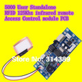 3pcs 5000 User Standalone RFID ID card 125Khz infrared remote Access Control PCB including extended antenna