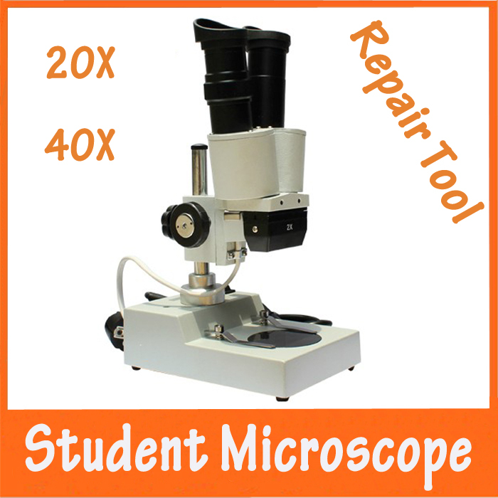 20x Illumination Student Children Educational Binocular Stereology Microscope Repairing Tool Characterization Utility School 20x student zoom stereo microscope led binocular stereo microscope tool insect plant watch for student science education