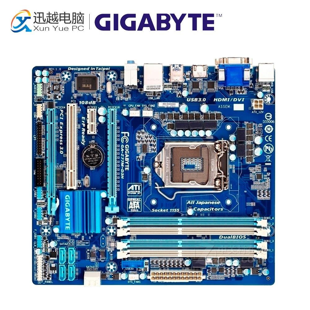 Gigabyte GA-Z77M-D3H Desktop Motherboard Z77M-D3H Z77 LGA 1155 i3 i5 i7 DDR3 32G SATA3 Micro-ATX gigabyte ga z77 ds3h desktop motherboard z77 ds3h z77 lga 1155 i3 i5 i7 ddr3 32g sata3 atx