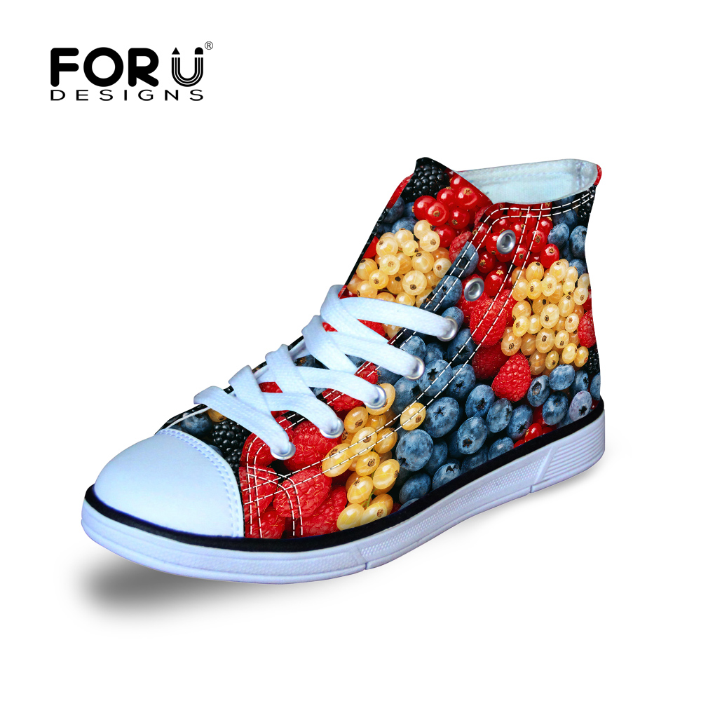 Funky Baby Boys Gitls Summer Outdoor Playing High Top Canvas Shoes Fruit Style Anti-Slip Walking Shoes Children Sneaker Gift