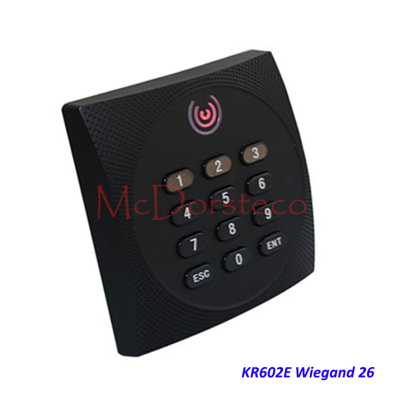 KR602 Waterproof Card Slave Reader Wiegand 26 Card & Password Reader for Door Access Control System keypad Rfid Reader KR602E waterproof touch keypad card reader for rfid access control system card reader with wg26 for home security f1688a