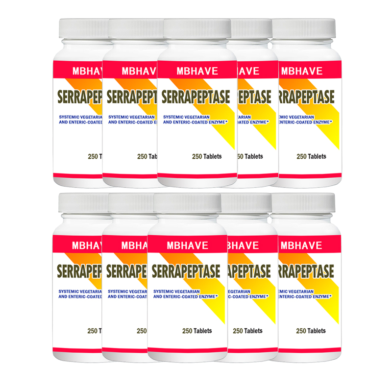FREE SHIPPING NEW 2019 Serrapeptase 80,000iu  250pcs X10B High Strength Health Aid Natures BestFREE SHIPPING NEW 2019 Serrapeptase 80,000iu  250pcs X10B High Strength Health Aid Natures Best