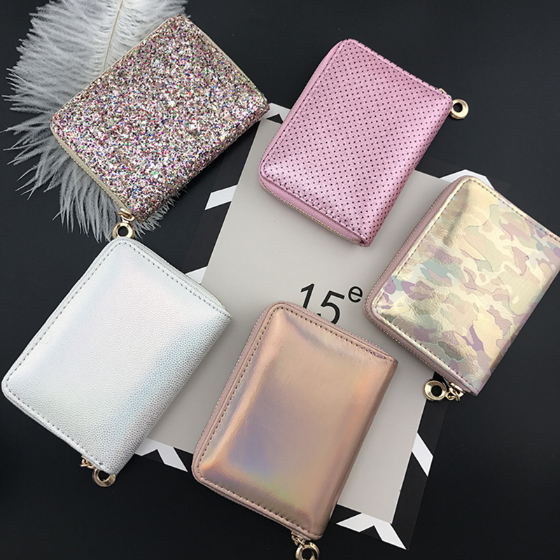 BELLO TUTTI PU Leather Women Zipper Short Wallets Ladies Fashion Small Wallet Coin Purse Female Card Wallet Purses Money Bag