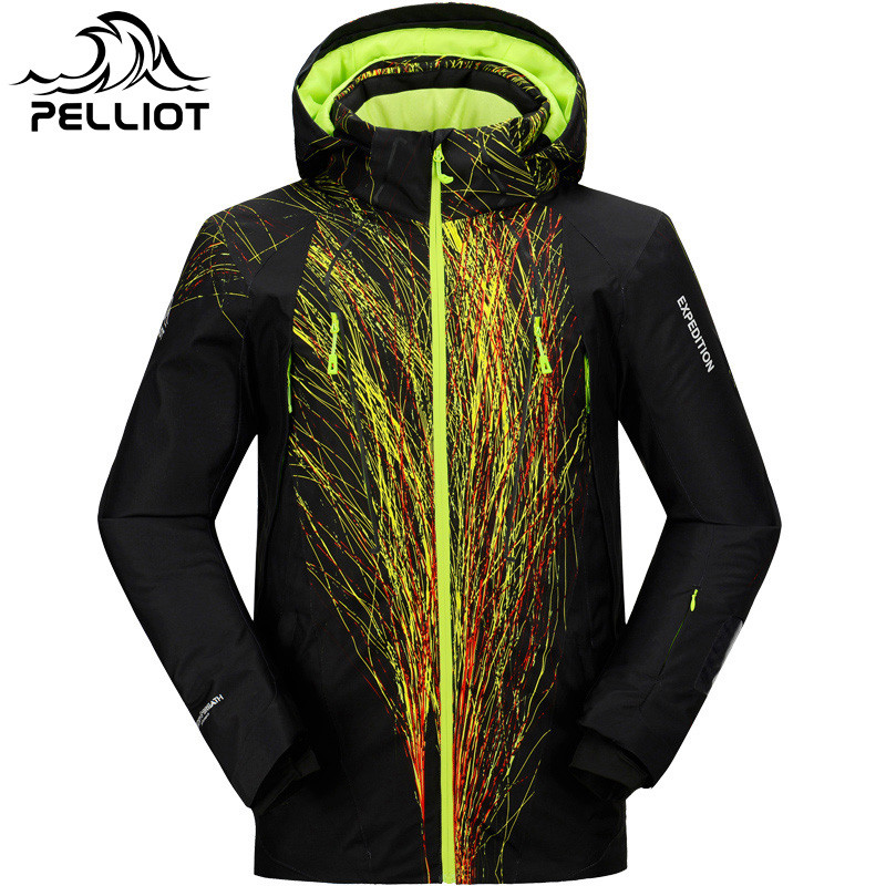 купить PELLIOT Brand Ski Jacket Men Winter Snow Jacket Waterproof Super Warm Outdoor JacketS for -30 Degree Skiing Snowboarding Wear недорого