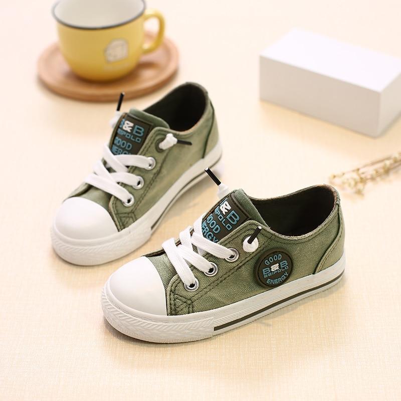 kinderen kinderen canvas schoenen voor meisjes jongens babys 2018 - Kinderschoenen - Foto 1