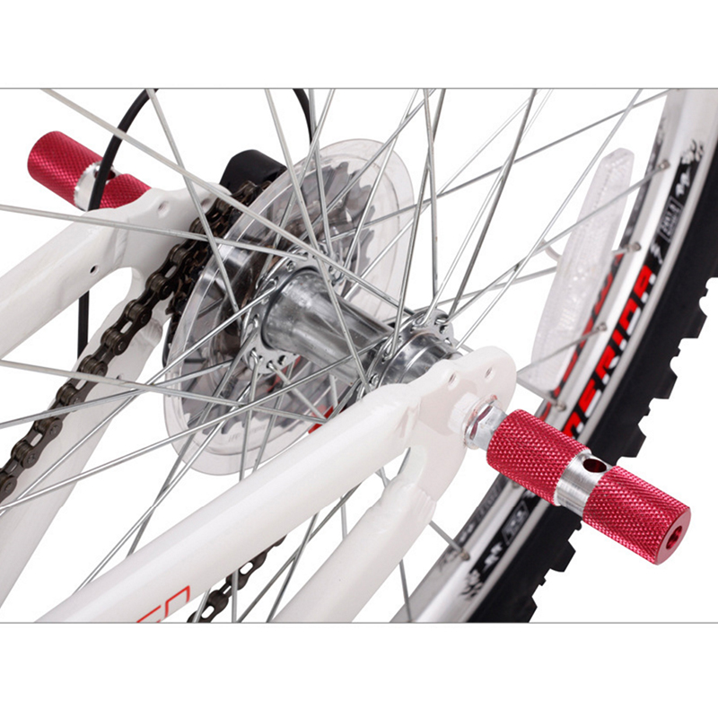 Blue Aluminum Axles Fixed Gear Bike Bicycle Front Rear Foot Pegs 2 PCS