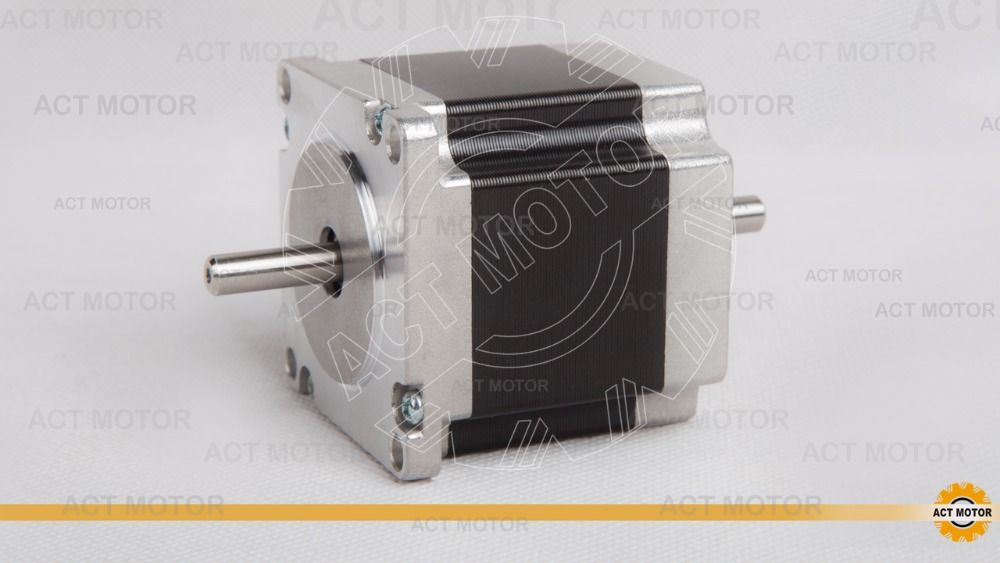 Free shipping from Germany! ACT Motor 1PC Nema23 Stepper Motor 23HS6620B Dual Shaft 185oz-in 56mm 2A 6-lead 2Phase CE ISO ROSH free ship from germany act 3pcs nema34 stepper motor 34hs1456b dual shaft 4 lead 1232oz in 118mm 5 6a 3pcs driver dm860 7 8a 80v