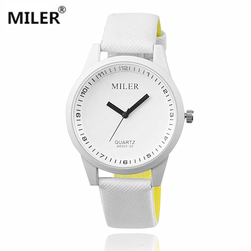 Women's Miler Watch 2019 New Pu Leather Sports Quartz Watches Hot Sale! Fashion Style Analog Wristwatch Round Dial Relogs