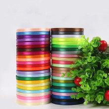 6mm 22 Meters Single Face Satin Ribbon Wholesale Gift Packing Christmas Ribbons Wedding Party Decorative Crafts Ribbons 25 Yards(China)