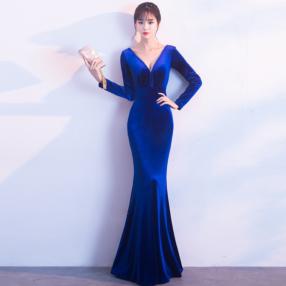 Vestidos De Novia Festa Evening Dress Vintage Elegant Long Full Tulle Party  Evening Gowns V-neck Crystal Mermaid Elie Saab Shirt 37f04b454ebd