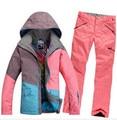 2016 Pop Sale Cowboy Lady Women Ski Suit  Colorful Match Snowboard Warm Ski Jacket+Pants Windproof Waterproof Ski Sets