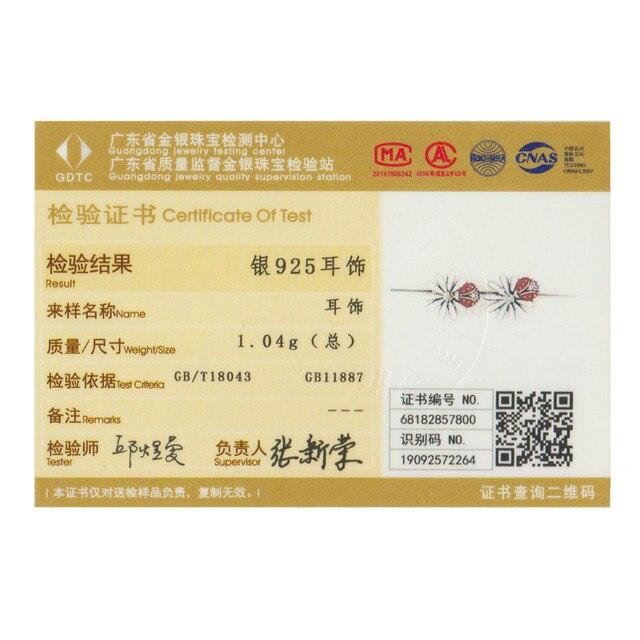 925 Sterling Silver Daisy Flower Red Ladybug Stud Earrings 4