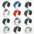 2017 Fashion Vintage Jewelry  Python Snake Genius Leather Bangle Open Bracelets Gem Stone Inlay Rhinestone Cuff Bangle Gift