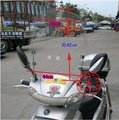 Free shipping motorcycle windshield,wind screen fit for mos motorcycle,scooter and e-bikes WS-02
